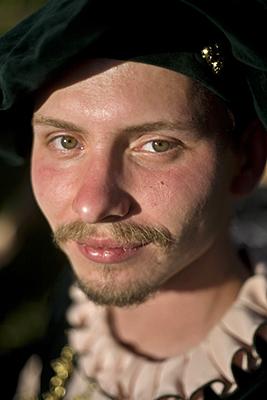 Hungary - Pec - A man in traditional Hungarian folk costume performs at a cultural festival