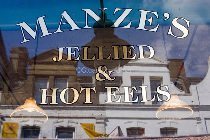 UK - London - Manze's Eel, Pie and Mash shop in Walthamstow, East London,