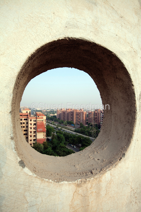 India - New Delhi - An overview of the city from an apartment block in Dwarka