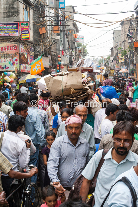 India - Delhi - Crowds in Sadar Bazaar