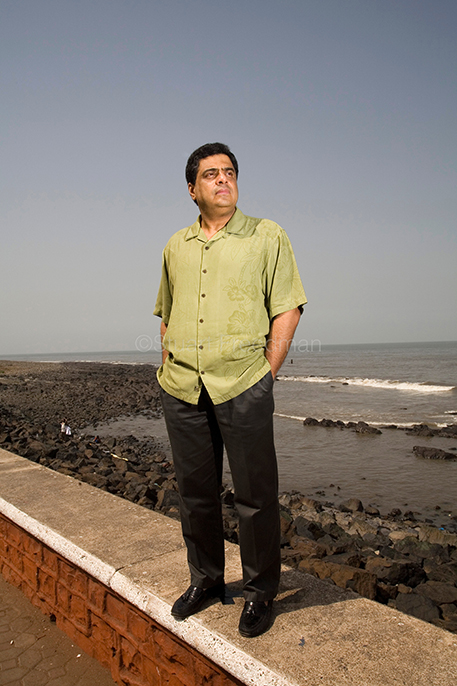 India - Mumbai - Ronnie Screwvala, CEO of UTV, at Sea Face Bay  in Mumbai (formerly Bombay), India..As a producer and businessman, over the past five years Screwvala has led the transformation of India's prolific but chaotic film industry to become a crossover figure in Hollywood and Bollywood...