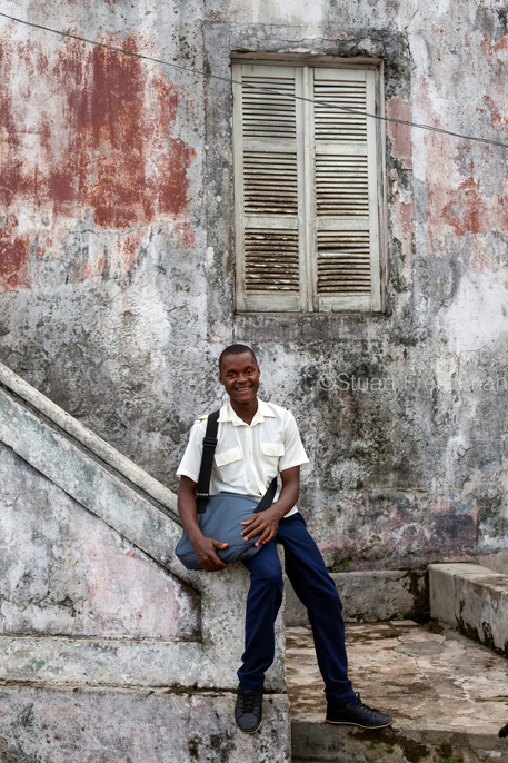 Sao Tome and Principe - San Antonio - A portrait of Nalito, 18, a schoolboy